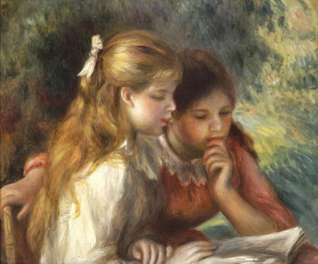 Fine Art Print The Reading, c.1890-95