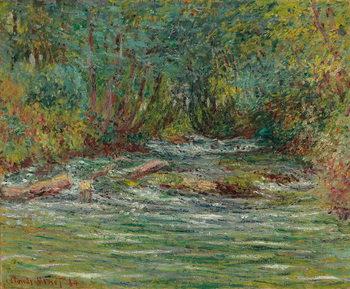 Fine Art Print The River Epte at Giverny, Summer; La riviere de l'Epte a Giverny, l'ete, 1884