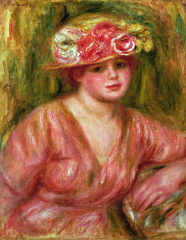 Fine Art Print The Rose Hat or Portrait of Lady Hessling