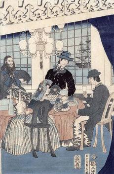 Fine Art Print  The salon of a house of foreign merchants at Yokohama, 1861