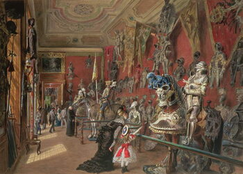 Fine Art Print The second Armoury Room in the Ambraser Gallery of the Lower Belvedere, 1875