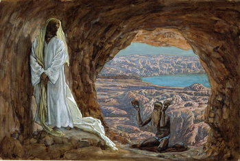 Fine Art Print The Temptation in the Wilderness, illustration for 'The Life of Christ', c.1886-94