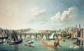 Fine Art Print The Thames below Westminster Bridge