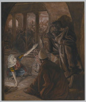 Fine Art Print The Third Denial of Saint Peter - Jesus' Look of Reproach, illustration from 'The Life of Our Lord Jesus Christ', 1886-94
