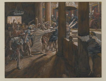 Fine Art Print  The Tribunal of Annas, illustration from 'The Life of Our Lord Jesus Christ', 1886-94