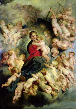 Fine Art Print  The Virgin and Child surrounded by the Holy Innocents or, The Virgin with Angels, 1618