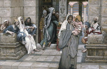 Fine Art Print  The Widow's Mite, illustration for 'The Life of Christ', c.1884-96