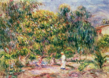 Fine Art Print  The woman in white in the garden of Les Colettes, 1915