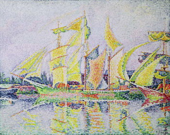 Fine Art Print  Three Yellow Masts, 1931