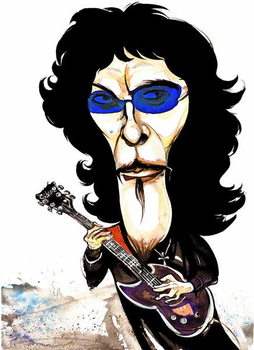 Fine Art Print Tommy Iommi - caricature