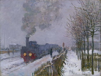 Fine Art Print Train in the Snow or The Locomotive, 1875