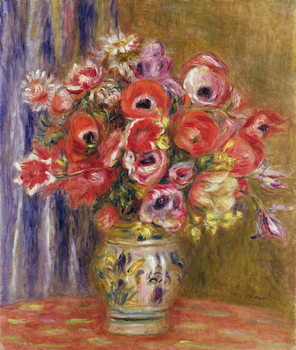 Fine Art Print Vase of Tulips and Anemones, c.1895