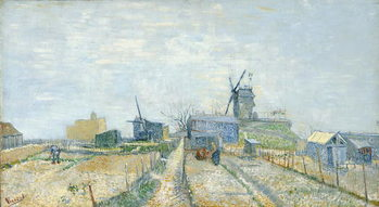 Fine Art Print  Vegetable Gardens and the Moulin de Blute-Fin on Montmartre, 1887