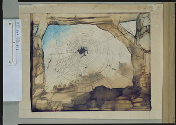 Fine Art Print  Vianden through a Spider's Web
