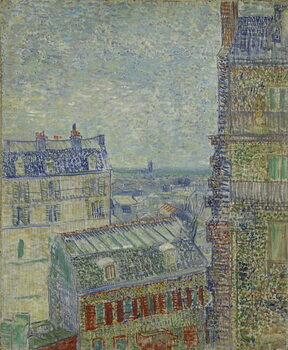 Fine Art Print View of Paris from Theo's apartment in the rue Lepic, 1887