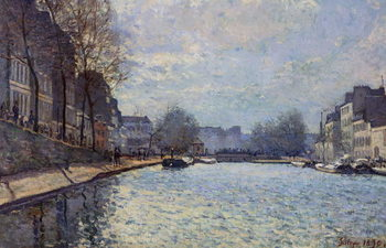 Fine Art Print View of the Canal Saint-Martin, Paris, 1870