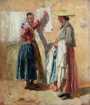 Fine Art Print Washerwomen in Antibes, 1869