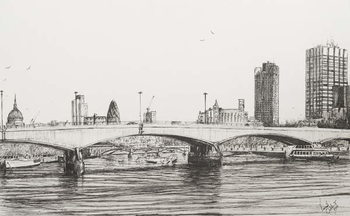 Fine Art Print  Waterloo Bridge London, 2006,