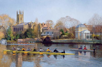Fine Art Print Winter Training at Hampton