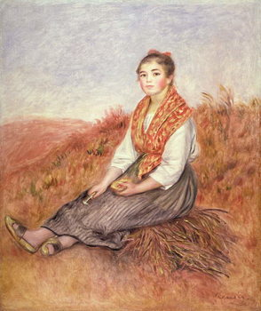 Fine Art Print  Woman with a bundle of firewood, c.1882