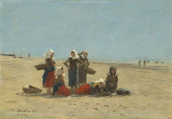 Fine Art Print Women on the Beach at Berck, 1881
