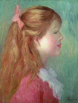 Obrazová reprodukce  Young girl with Long hair in profile, 1890