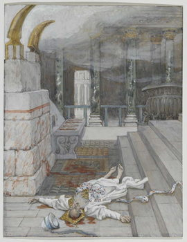 Fine Art Print Zacharias Killed Between the Temple and the Altar, illustration from 'The Life of Our Lord Jesus Christ', 1886-96