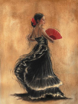 FLAMENCO DANCER II Reproduction d'art