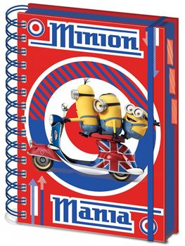 Minions (Moi, moche et méchant) - British Mod Red A5 Project Book Fournitures de Bureau