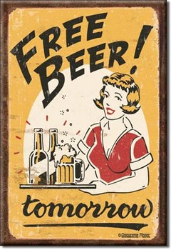 FREE BEER - tomorrow Magnet