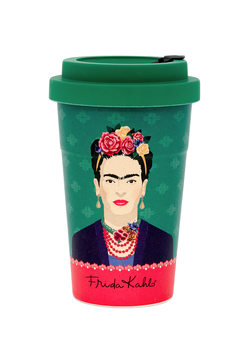 Travel mug Frida Kahlo - Green Vogue