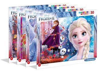 Palapeli Frozen: huurteinen seikkailu 2 - Frame 4in1