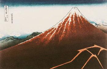 Fuji above the Lightning', from the series '36 Views of Mt. Fuji' ('Fugaku sanjurokkei') (coloured woodblock print) Taidejuliste