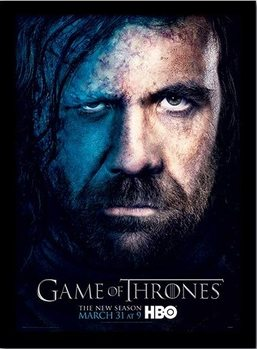 GAME OF THRONES 3 - sandor Poster encadré en verre