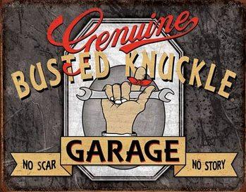 Genuine Busted Knuckle Plaque métal décorée