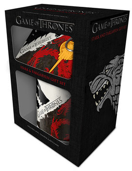 Conjunto de Presentes  Game of Thrones - Stark and Targaryen