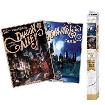 Gift set Harry Potter - Retro Hogwarts & Diagon Alley
