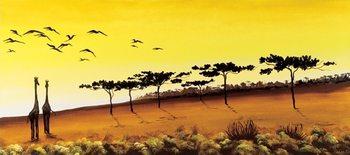 Giraffes, Africa Reproduction d'art