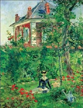 Girl In The Garden At Bellevue Reproduction d'art