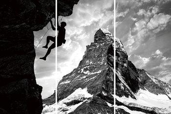 Glass Art  Be Brave - Climb the Mountain