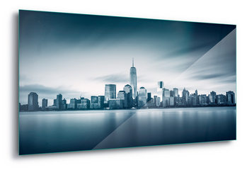 Glass Art  Blue Manhattan