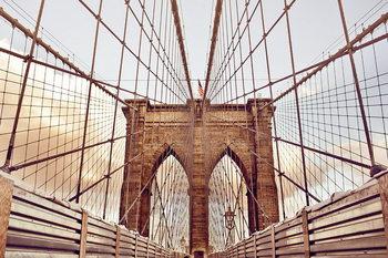 Glass Art Brooklyn Bridge - Old Style, New York