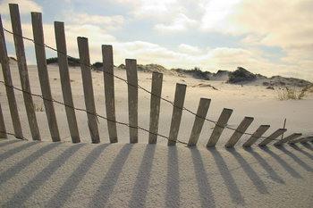 Glass Art Fence on the Beach