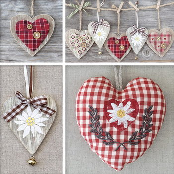 Glass Art Hearts - Collage