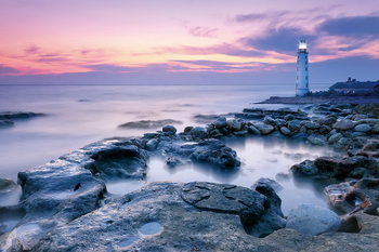 Glass Art Lighthouse on the Shore