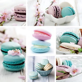 Glass Art Macaron - Blue Art