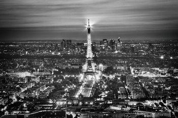 Glass Art Paris - Eiffel Tower b&w