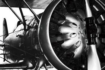 Glass Art Plane - Engine