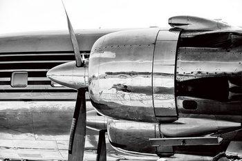 Glass Art Plane - Red Bull