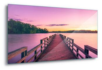Glass Art  Purple Pier